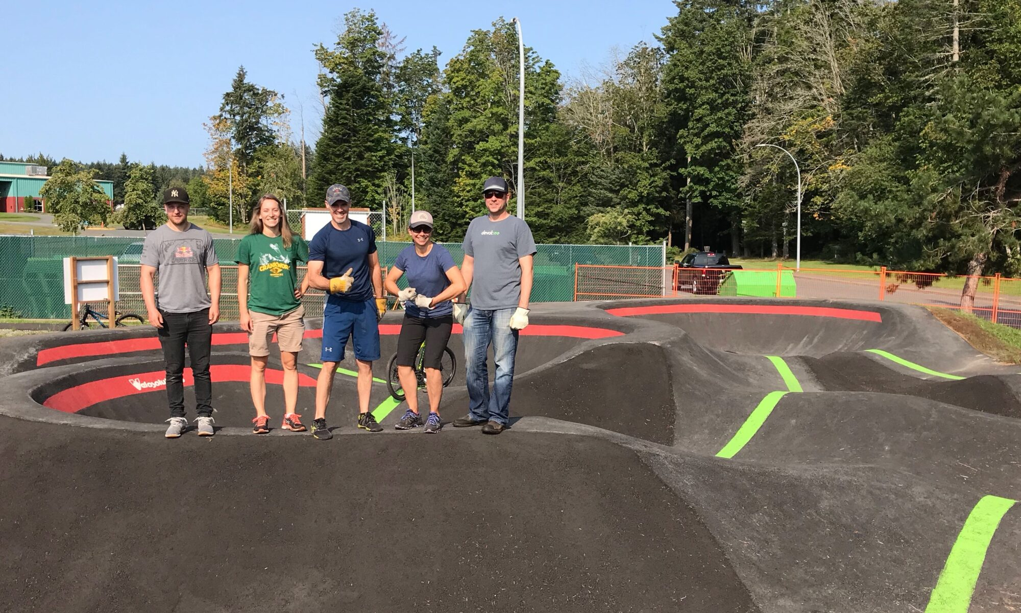 CR Bike Park Board Members opening pump track.
